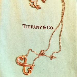 Tiffany & Co 925 Silver Heart Infinity Necklace